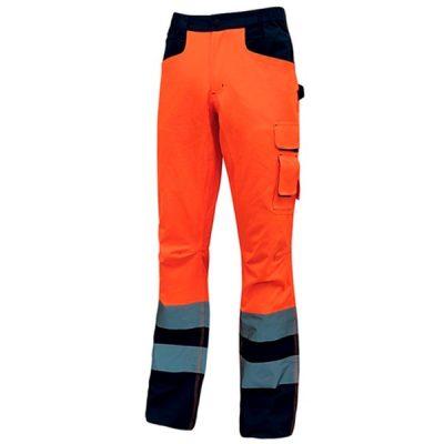 Pantalón de alta visibilidad U-Power Radiant Orange Fluo