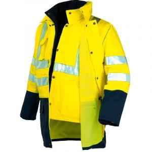 Parka bicolor triple uso de alta visibilidad Starter amarillo
