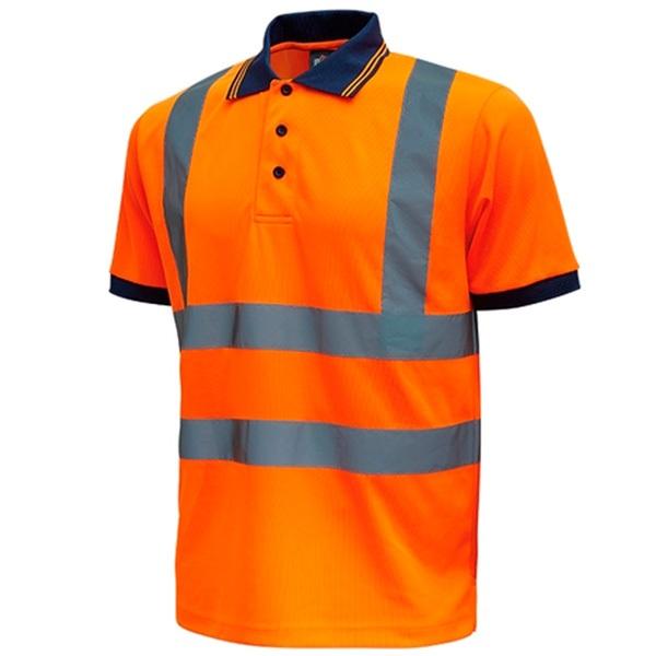 Polo de alta visibilidad U-Power Fog Orange Fluor