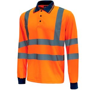 Polo de alta visibilidad U-Power Haze Orange Fluo