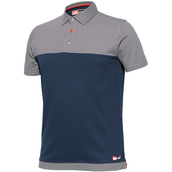 Polo de manga corta de algodón y elastano, Starter Stretch azul.