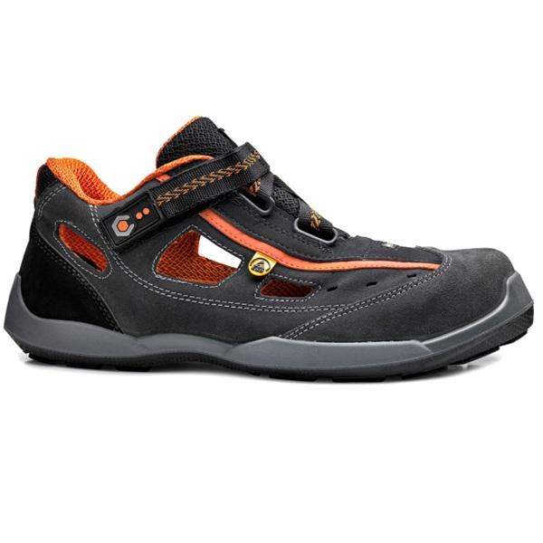 Sandalias de seguridad Base Aerobic RECORD B0617 S1P ESD GRIS