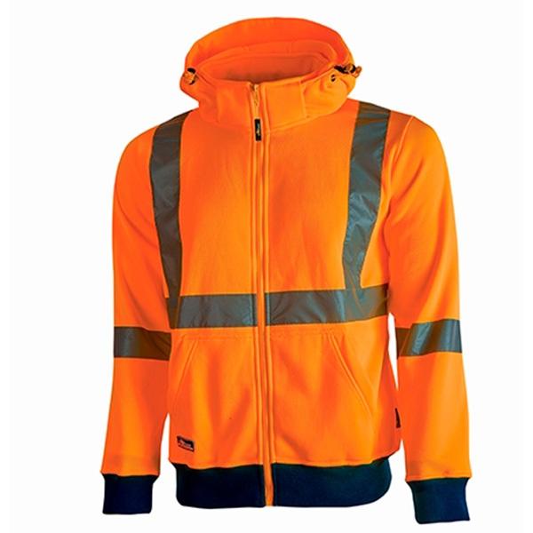 Sudadera de alta visibilidad U-Power Melody Orange Fluo