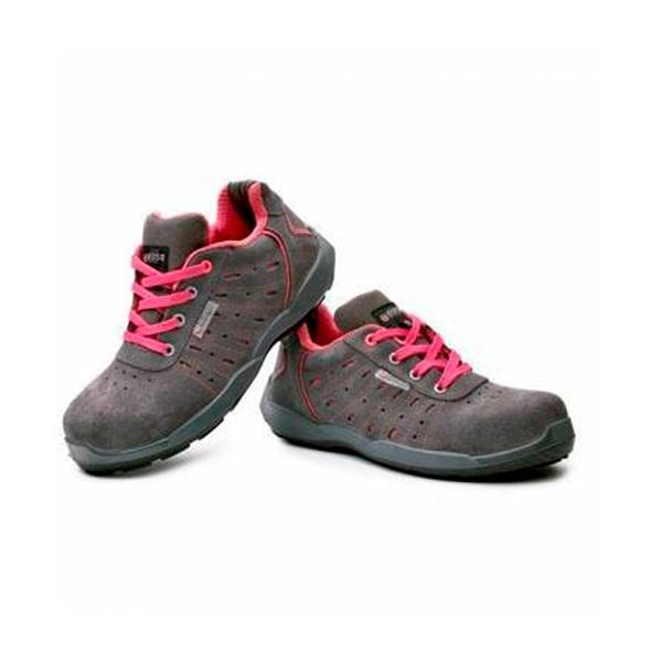 Zapatos de seguridad BASE B0670 ATTITUDE SRC GRIS/FUCSIA