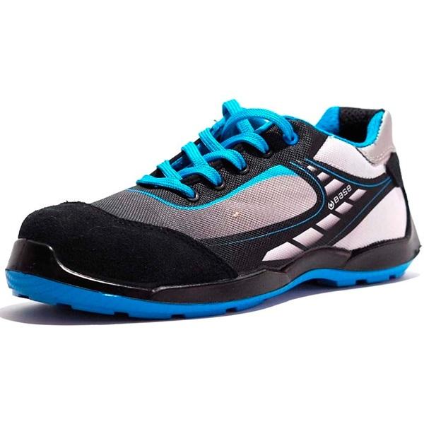 Zapatos de seguridad BASE B0676 BOWLING SRC GRIS/AZUL