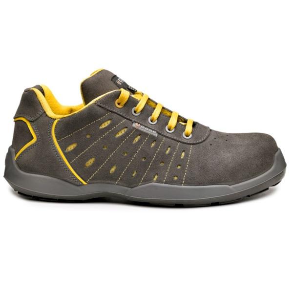 Zapatos de seguridad BASE B0672 SMASH S1P GRIS/AMARILLO