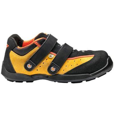 Zapatos de seguridad con velcro BASE CRICKET RECORD S1P ESD SRC AMARILLO