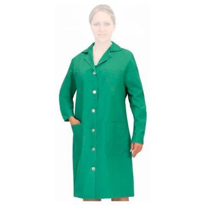 Bata señora entallada Manga larga Vesin verde