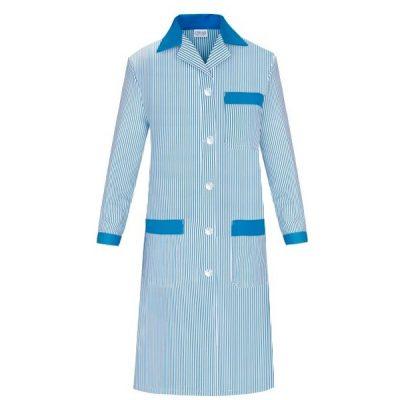 Bata señora manga larga de rayas Vesin azul