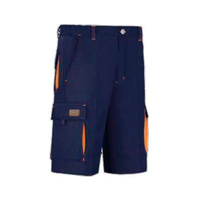 Bermudas 6 bolsillos Vesin bicolor azul marino