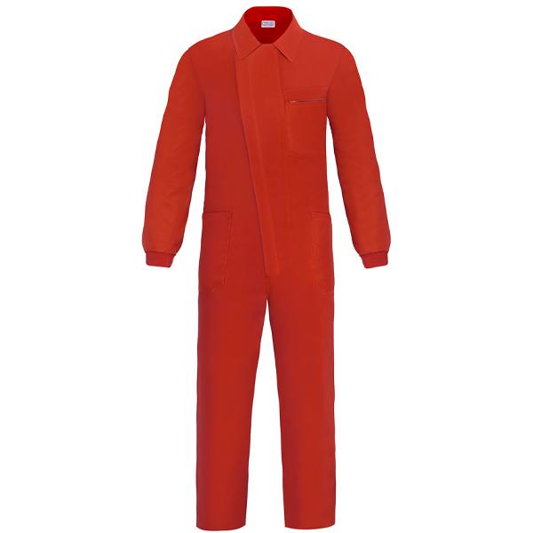 Buzo con cremallera y tapeta Vesin Rojo P0-RO