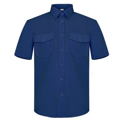 Camisa manga corta dos bolsillos Vesin azul