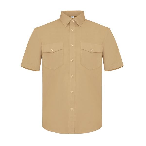 Camisa manga corta dos bolsillos Vesin beige