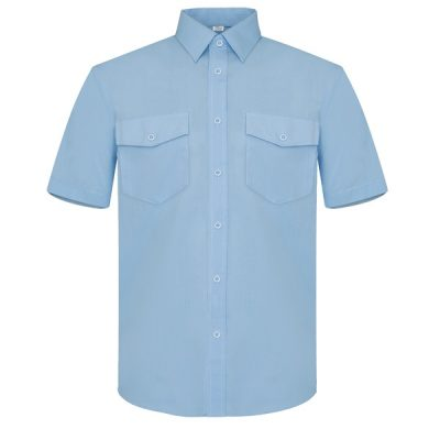 Camisa manga corta dos bolsillos Vesin celeste