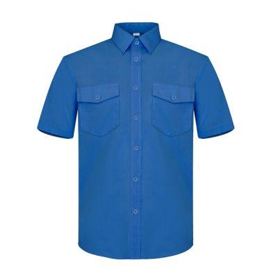 Camisa manga corta dos bolsillos Vesin azulina
