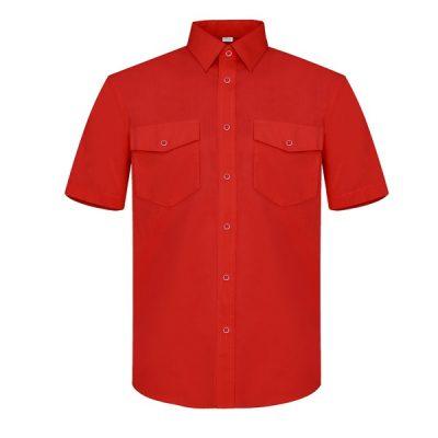 Camisa manga corta dos bolsillos Vesin rojo