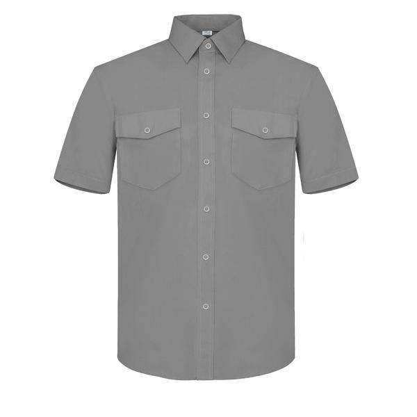 Camisa manga corta dos bolsillos Vesin gris
