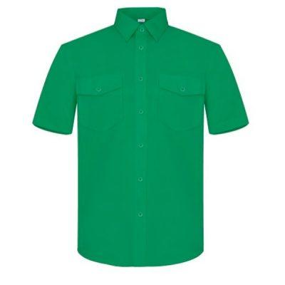 Camisa manga corta dos bolsillos Vesin verde