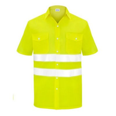 Camisa manga corta dos bolsillos alta visibilidad  Vesin amarillo