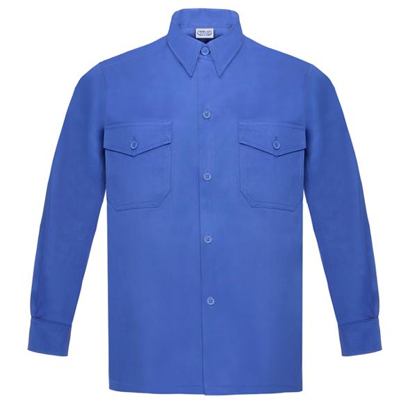 Camisa manga larga Vesin L-500 azulina A43-AZ