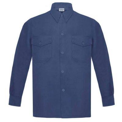 Camisa manga larga Vesin L-500 marino A43-AM