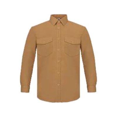 Camisa manga larga dos bolsillos Vesin Beige