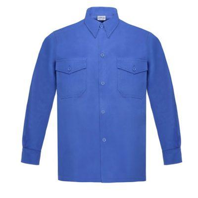 Camisa manga larga dos bolsillos Vesin azulina