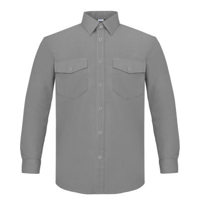 Camisa manga larga dos bolsillos Vesin gris