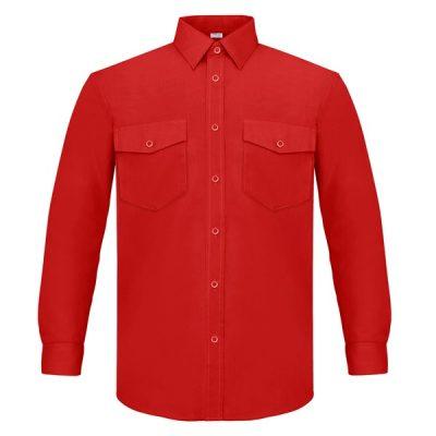 Camisa manga larga dos bolsillos Vesin rojo