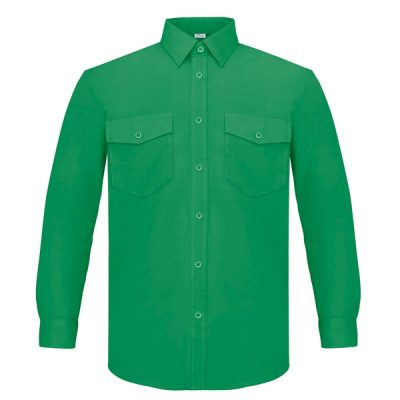 Camisa manga larga dos bolsillos Vesin verde