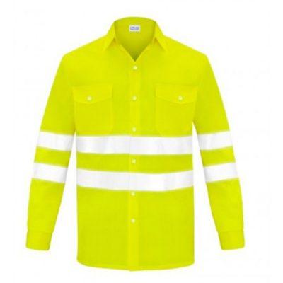 Camisa manga larga dos bolsillos alta visibilidad Vesin amarillo