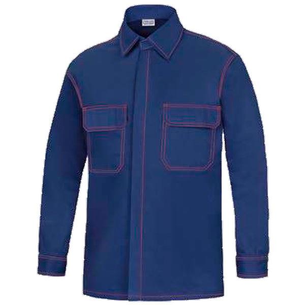 Camisa manga larga dos bolsillos vesin azul