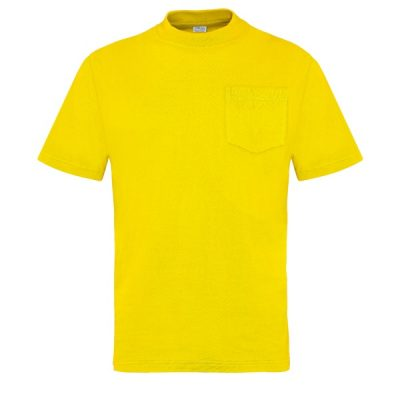 Camiseta manga corta con bolsillo Vesin amarillo