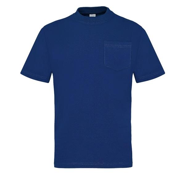 Camiseta manga corta con bolsillo Vesin azul