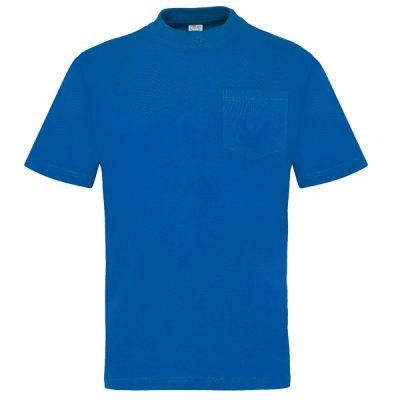 Camiseta manga corta con bolsillo Vesin azulina
