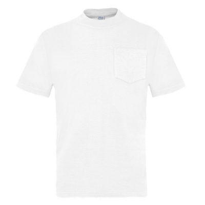 Camiseta manga corta con bolsillo Vesin blanco