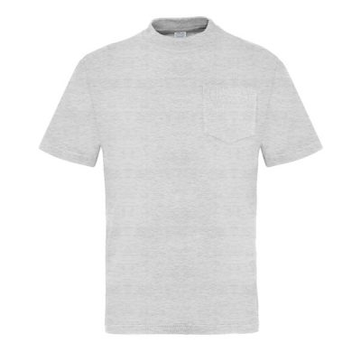 Camiseta manga corta con bolsillo Vesin gris