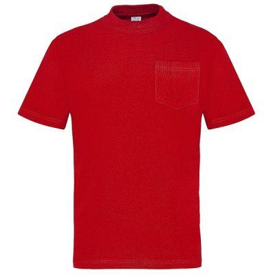 Camiseta manga corta con bolsillo Vesin rojo