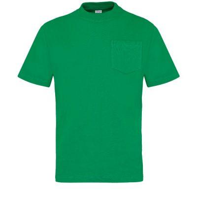 Camiseta manga corta con bolsillo Vesin verde