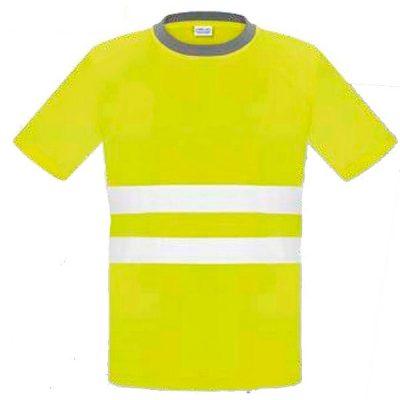 Camiseta manga corta de alta visibilidad Vesin amarillo