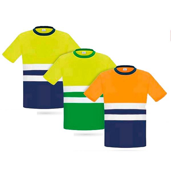 Camiseta manga corta de alta visibilidad vesin verde