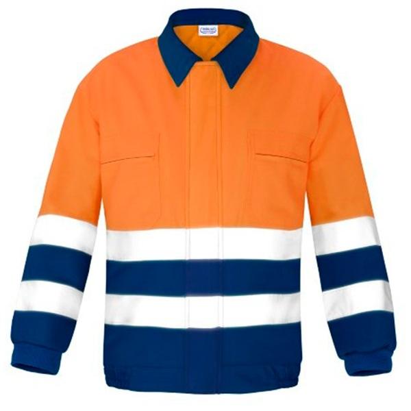 Cazadora con cremallera de alta visibilidad Vesin Naranja-azul
