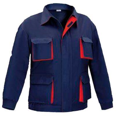 Cazadora multibolsillos Cargo Bicolor Vesin azul-rojo