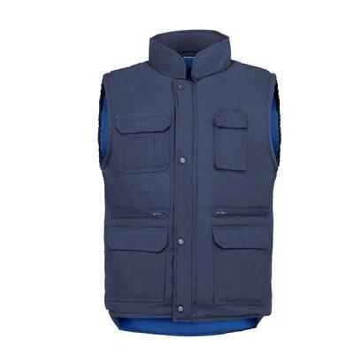 Chaleco de trabajo 7 bolsillos forro polar Vesin azul