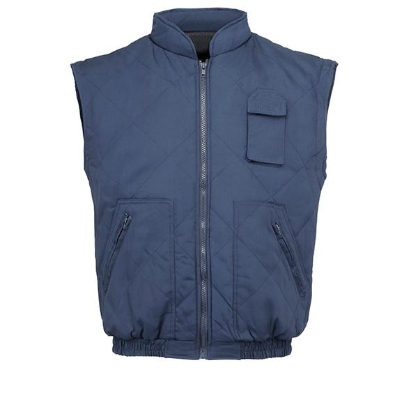 Chaleco de trabajo rombos 4 bolsillos Vesin azul