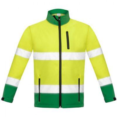 Chaqueta Soft Shell Bicolor alta visibilidad Vesin verde