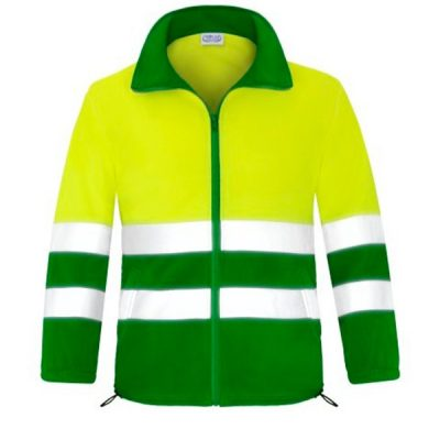 Forro polar abierto con cremallera alta visibilidad Vesin verde