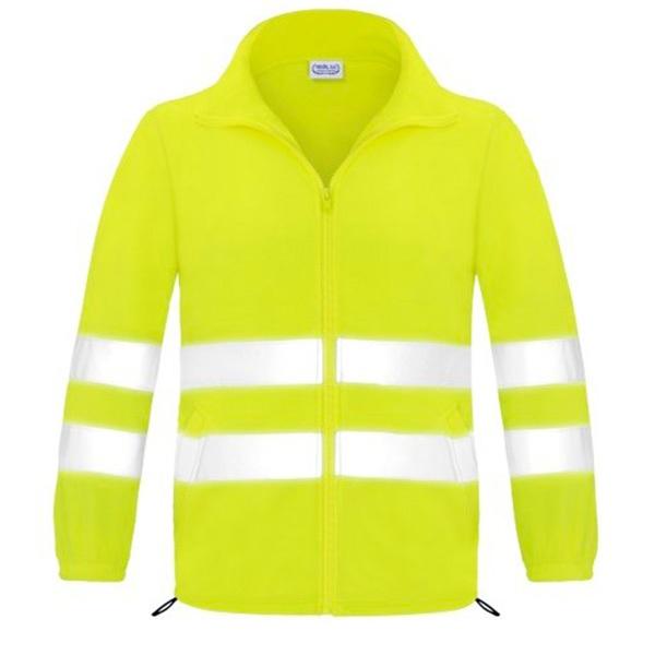 Forro polar abierto con cremallera alta visibilidad Vesin amarillo