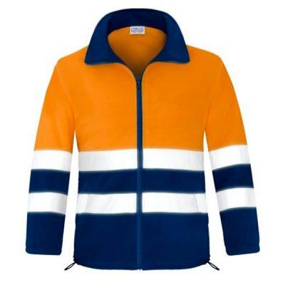 Forro polar abierto con cremallera alta visibilidad Vesin naranja-azul