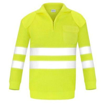 Jersey con bolsillo y refuerzos alta visibilidad Vesin amarillo